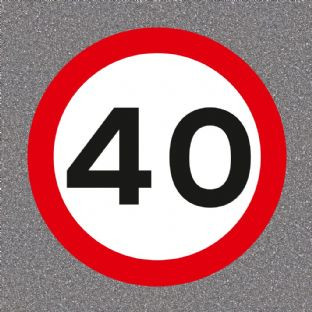40 mph Speed Limit Road Sign